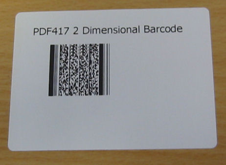 barcode label. PDF417 2D Barcode Label