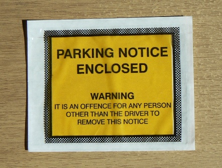 Parking Notice,Parking Notice Pouch,Parking Notice Enlosed Pouch
