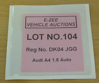 Auction Tickets,Lot Numbers,Lot Number Tickets